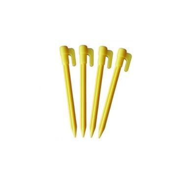 Estacas Triangular Plástico para Barraca 6 Peças Amarelo Naturehike