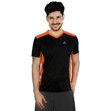 Imagem de Camiseta Performance 2x Color Ss Muvin Cst-100 - Preto/laranja - Gg