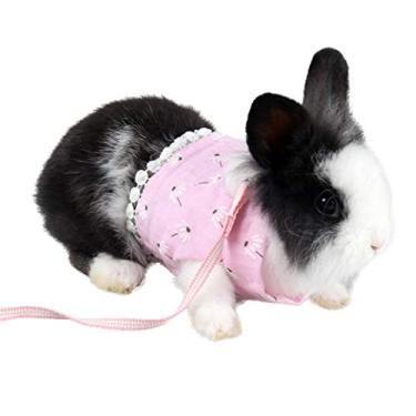 Imagem de Coleira para hamster da Popetpop – Conjunto de colete e correia para caminhada ao ar livre para animais de estimação, peitoral para coelhinho da Índia e hamster, acessório de roupas de gatinho