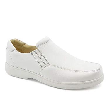 Imagem de Sapato Masculino 410 Casual Comfort Floater Branco Doctor Shoes Sapato Masculino 410 em Couro Floater Branco Doctor Shoes-Branco-37