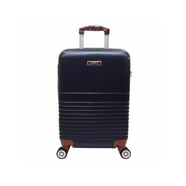 Mala Viagem Pequena c/ 4 Rodinhas 360º ABS Azul Marinho YS21045AM-P