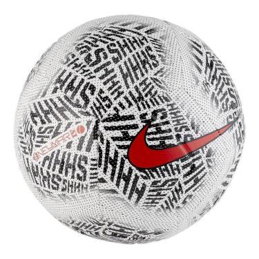 Bola Futebol Campo Nike Neymar Strike SC3891-100, Cor: Branco/Preto/Vermelho, Tamanho: U