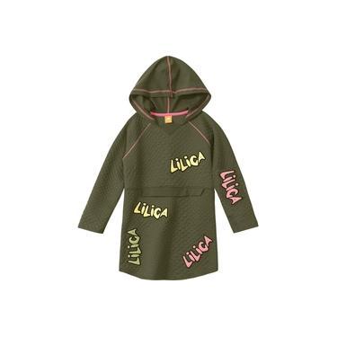 Vestido Infantil Lilica Ripilica Verde Com Capuz