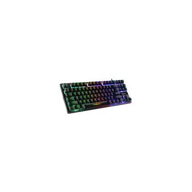 Teclado Mecânico Para Jogos USB 87 Retroiluminado RGB Para Jogadores De PC