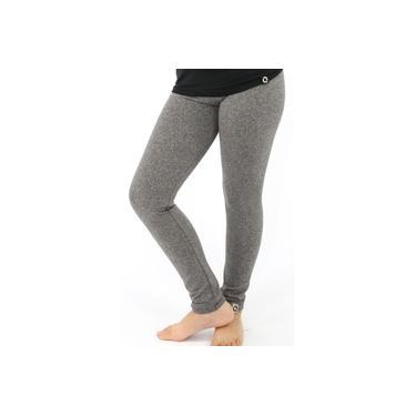 Calça Legging Infantil Menina Térmica Lisa Conforto Frio Cinza