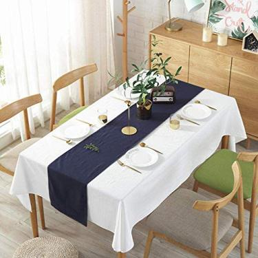 toalha de mesa tampa de mesa dobrável retangular simples doméstico reutilizável para móveis de cozinha toalhas de mesa brancas 60 × 60cm
