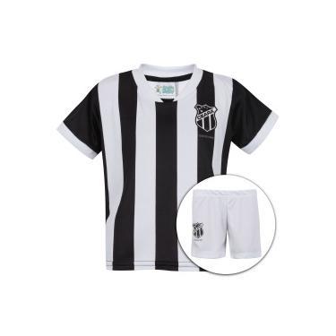 Kit de Uniforme de Futebol do Ceará  Camisa + Calção - Infantil - PRETO  808c25eb1174a