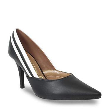Sapato Scarpin Bico Fino Vizzano Salto Alto Recorte Feminino
