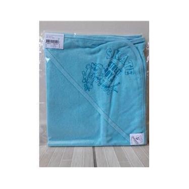 Toalha De Banho Bebe Mafessoni Estampa Capuz Azul