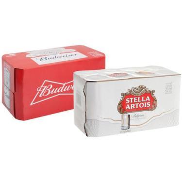 Kit Cerveja Stella Artois + Budweiser Lager - 16 Unidades 269ml