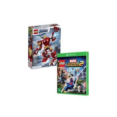 Brinquedo Lego Iron Man 76140 + Jogo Lego Marvel Super Heroes 2 - Xbox One