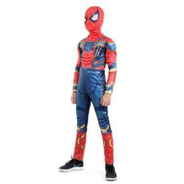 Imagem de Fantasia Homem Aranha de Ferro Infantil Longa Original com Máscara e Peitoral - Vingadores - Marvel M