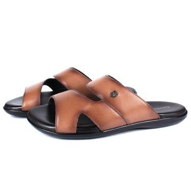Sandália em Couro Látego Tan Savelli  masculino