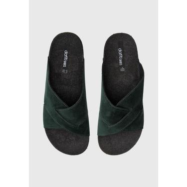 Rasteira Slide DAFITI SHOES Transpasse Verde DAFITI SHOES TN 190 feminino