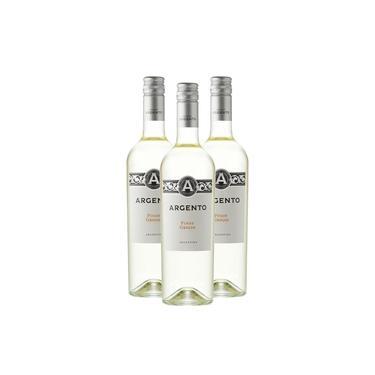 Kit 03 Vinhos Brancos Argento Pinot Grigio 750Ml