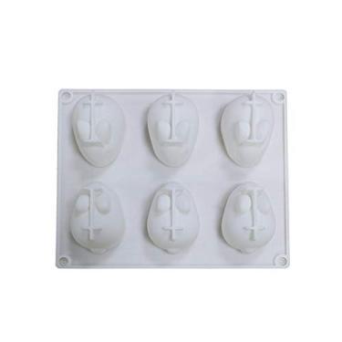 Moldes de silicone para ovos de Páscoa, molde de ovo de Páscoa, molde de chocolate de silicone de ovo, molde de silicone de coelho para bombas de cacau e cascas de chocolate quebráveis - preencha com peeep, doces, bolo/marshmallows (Bunny)