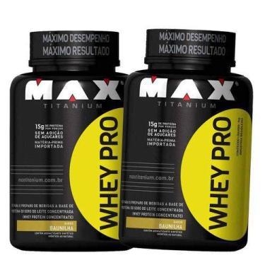 Combo Kit Homem/Mulher 2x Whey/wey/way Protein Concentrado Puro 1kg Max Titanium