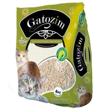 Areia higiênico para gato gatozim pacote de 4kg tradicional