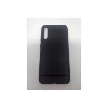 Kit 2 Capa Emborrachada preta Galaxy A70S + 1 Pel Vidro