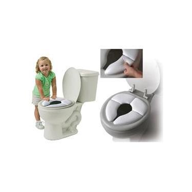 Assento Dobrável Infantil Redutor De Vaso Sanitário Para Bebes e Crianças Branco