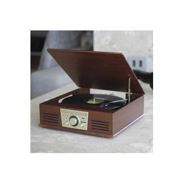 Vitrola Toca Discos De Vinil Sonata Stadio Bluetooth Bt Mp3 Rádio Fm Com Conversor Digital Arena Aria Phoenix Ópera Tenor Sonance Uitech