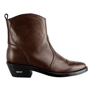 Bota Texana Hb Agabe Boots 102.000 - Lt Cafe - Solado de Borracha Bota Texana Hb Agabe Boots 102.000 - Lt Cafe - Numero:41