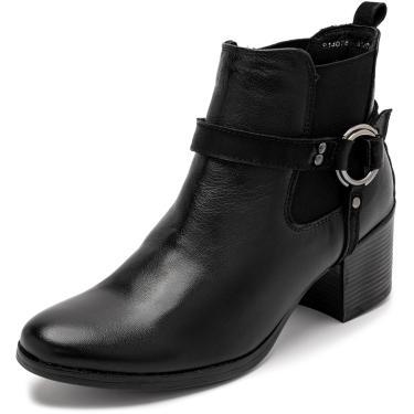 Bota Sandalo Feminina Clave De Fa Lira Preto  feminino