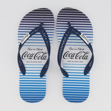 Chinelo Coca Cola Skylight Branco e Azul - 43-44