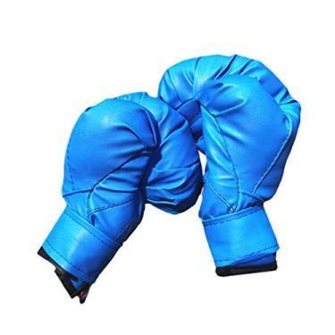 Luvas de boxe infantis BESPORTBLE para crianças, saco de pancada, Kickboxing, Muay Thai (azul)