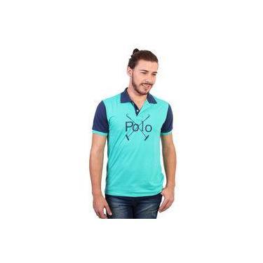 Camisa Polo England Polo Club Estampada Verde 6a5c0c66a2fe9