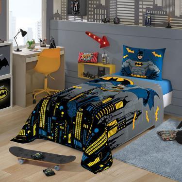 Jogo De Cama Solteiro Infantil Batman Facil Lavar Lepper