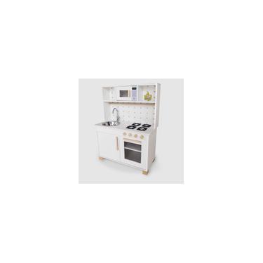 Imagem de Mini Cozinha Infantil Mdf Com Microondas Branca