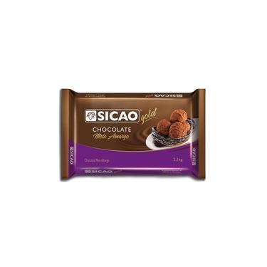 Barra de Chocolate Meio Amargo Gold 2,1kg - Sicao