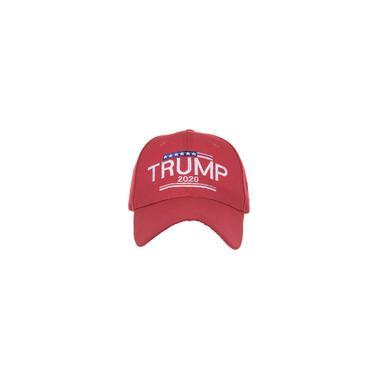 Boné de beisebol bandeira americana bordada Carta Trump Trump Viseira Moda