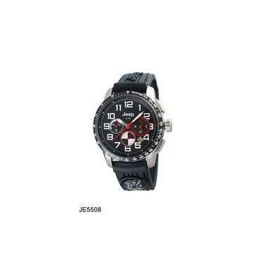 2548ac38d3c Relógio De Pulso Masculino Jeep JE5508 Caixa Aço Pulseira Silicone