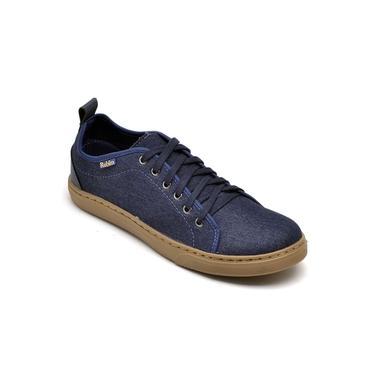 Imagem de Sapatênis Masculino Jeans Solado Borracha Macio Conforto Azul Escuro
