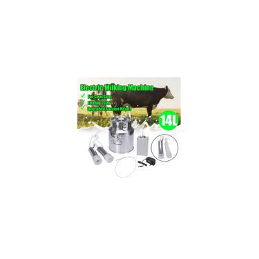 Imagem de 14L Atualizado Cabeças de Sucção Segurança Máquina de Ordenha Elétrica para Cabra Vaca Ordenha de Ovelha Barris Portáteis Tanque Cabeças Duplas com Bomba