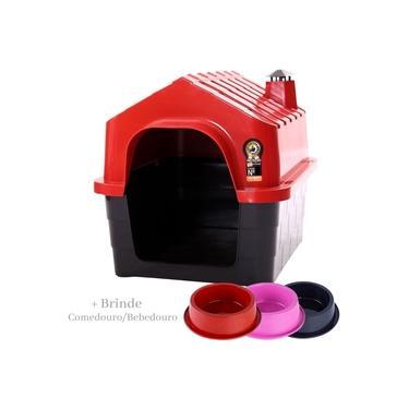 Casa Para Cachorro Casinha Cães e Gatos Plástico N°2 Com Brinde Durapets