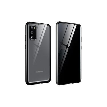 Capa Crystal Magnética Anti Curioso Samsung Galaxy S20 Plus – Preto