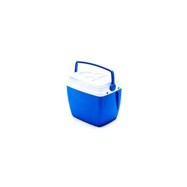 Imagem de Caixa cooler termico azul 18 litros com alca E porta copos