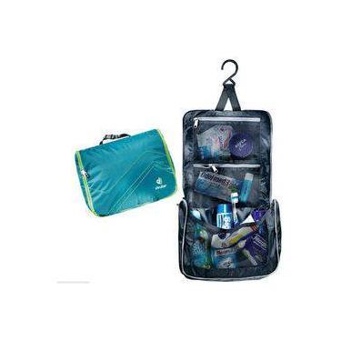 Necessaire Com Cabide Gancho Deuter Wash Center Lite 2 Viagem Azul