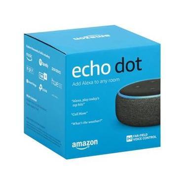 Smart Speaker - Amazon Echo Dot Alexa 3ª Geração Lacrado Preto