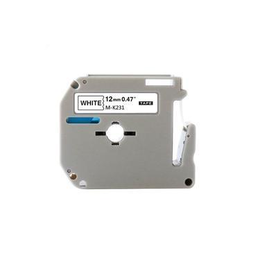 Fita plástica para rotulador Brother P-touch M-K231 preto sobre branco