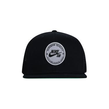 Boné Aba Reta Nike SB Patch - Snapback - Trucker - Adulto - PRETO Nike c8cd2dcdf3f