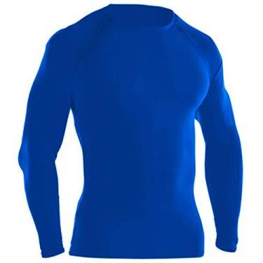 Camisa Térmica Proteção UV Ayron Fitness Manga Longa (M, Azul royal)
