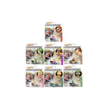 Hot Wheels - Set 7 Miniaturas - Mario Kart - Gbg25