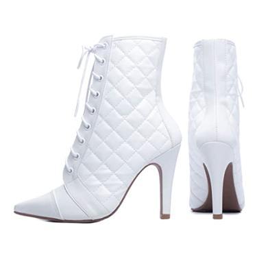 Imagem de Bota Torricella Bico Fino cor: branco; tamanho: 34