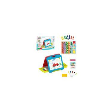 Imagem de Lousa Mágica divertida infantil com maleta 2 em 1 Multikids