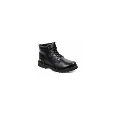 Bota Masculina Em Couro Worker Black Sandro Moscoloni 3996d61365bef