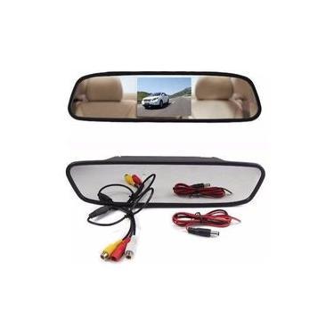 Retrovisor Automotivo Visor Espelho Tela Lcd 4,3 Veicular